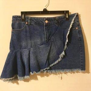 Dresses & Skirts - 🔴BOGO Unique Denim Jean Skirt